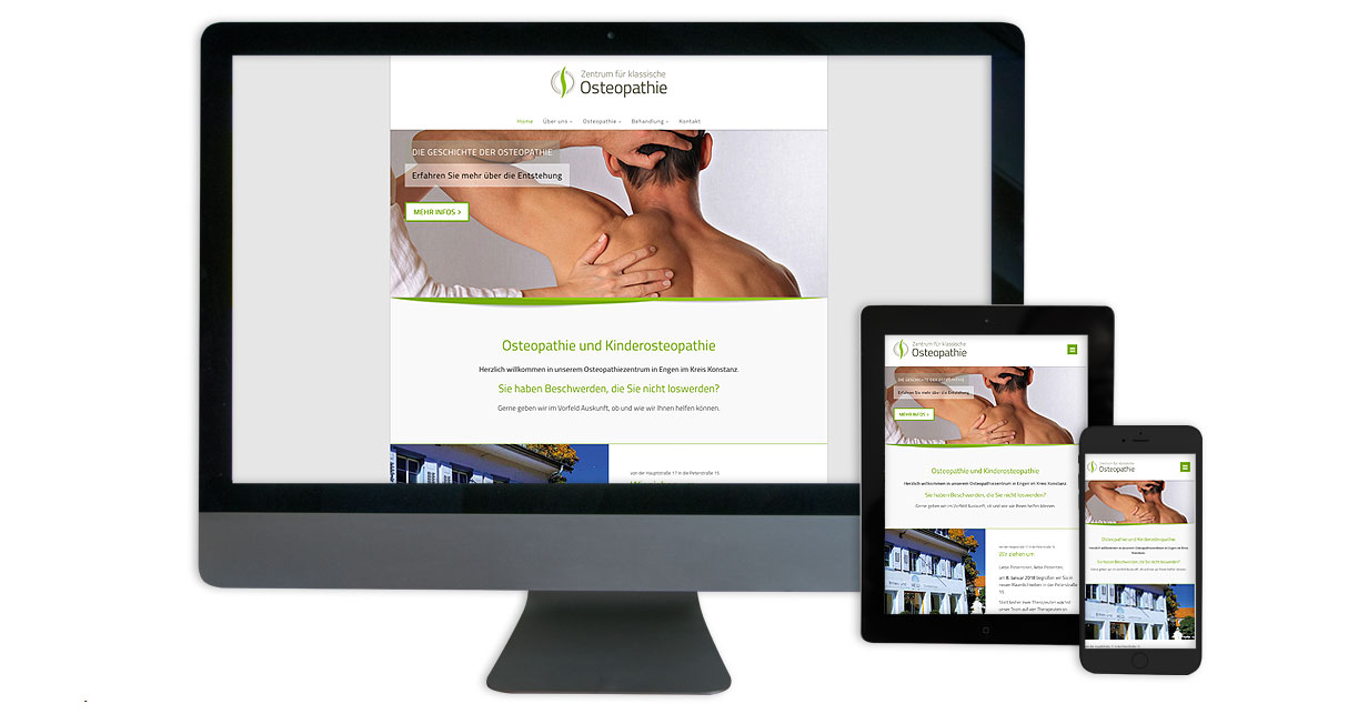 Website Osteopathie Engen